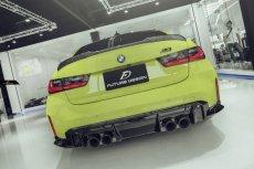 画像1: BMW 3シリーズ G80 M3 トランク用 リアスポイラー フォージド 鍛造 本物DryCarbon ドライカーボン (1)