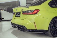 画像5: BMW 3シリーズ G80 M3 トランク用 リアスポイラー フォージド 鍛造 本物DryCarbon ドライカーボン (5)