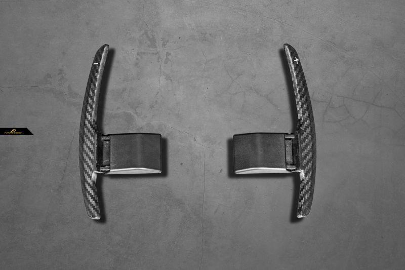 画像1: BMW 1シリーズ F20 ハンドル用パドルシフト 本物DryCarbon ドライカーボン 116 118 M135 M140 (1)