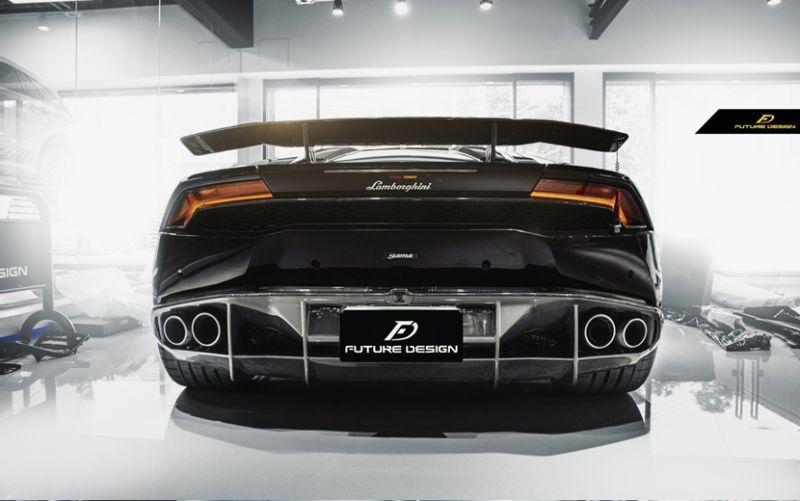 画像1: Lamborghini ランボルギーニ Huracan ウラカン LP580-2 カーボン リア ディフューザー 本物DryCarbon (1)