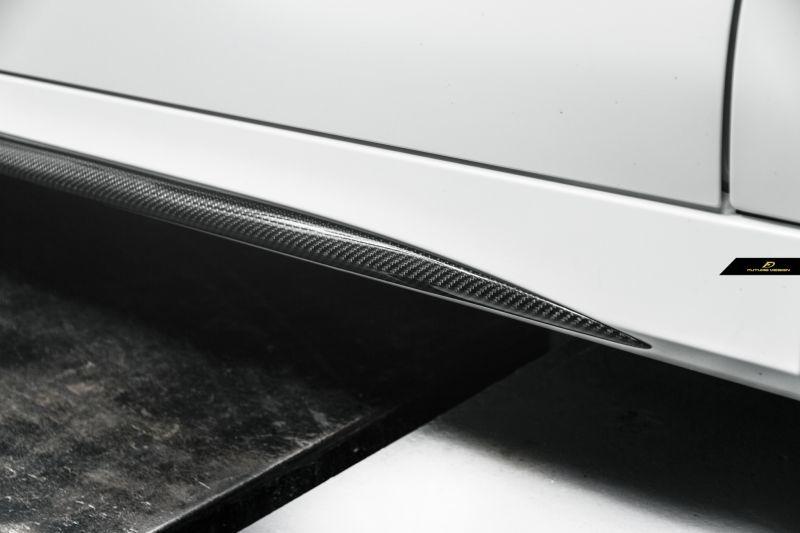 画像1: BENZ メルセデス・ベンツ CLA-Class W118 AMGサイドステップ用スカート 本物DryCarbon ドライカーボン (1)