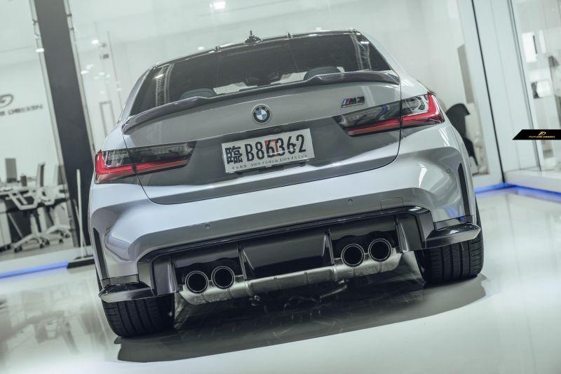 画像1: BMW 3シリーズ G80 M3 トランク用 リアスポイラー 本物DryCarbon ドライカーボン (1)