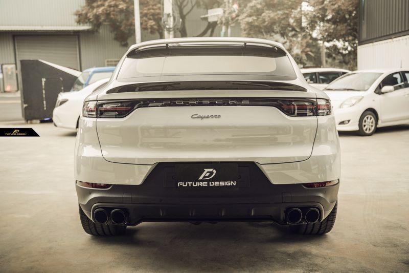 画像1:  PORSCHE ポルシェ Cayenne カイエン Coupe クーペ 9Y0 GT リアスポイラー 本物DryCarbon ドライカーボン (1)